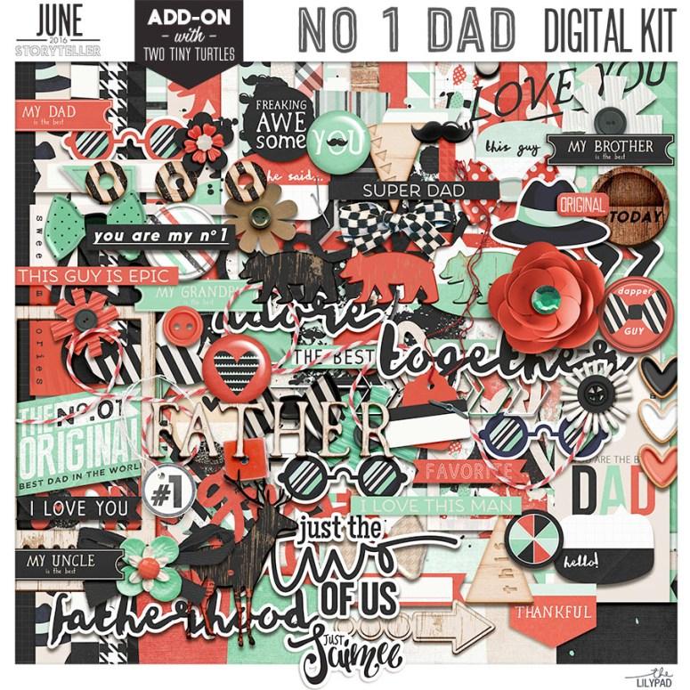 No 1 Dad Digital Kit