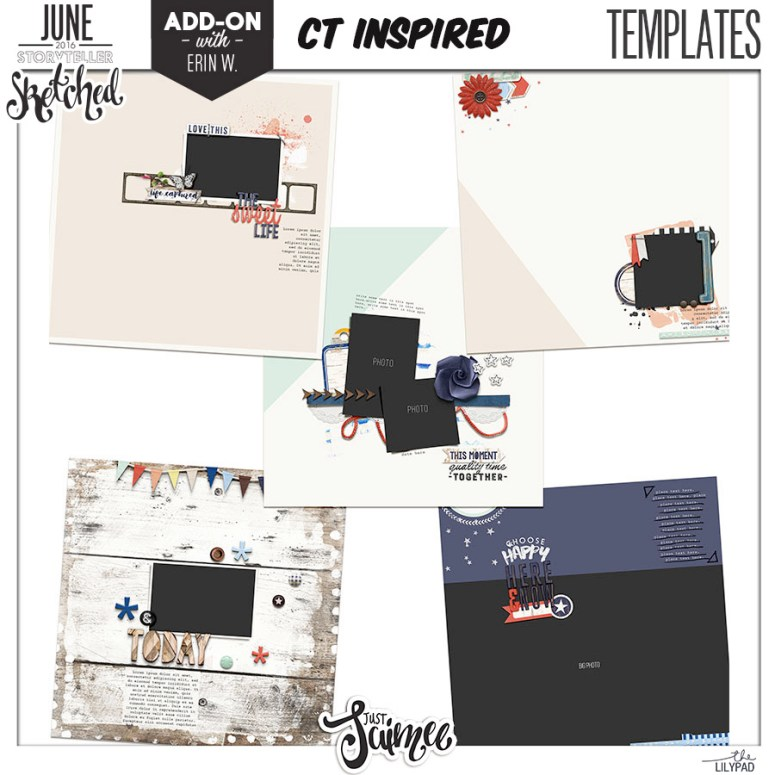 sketched templates june