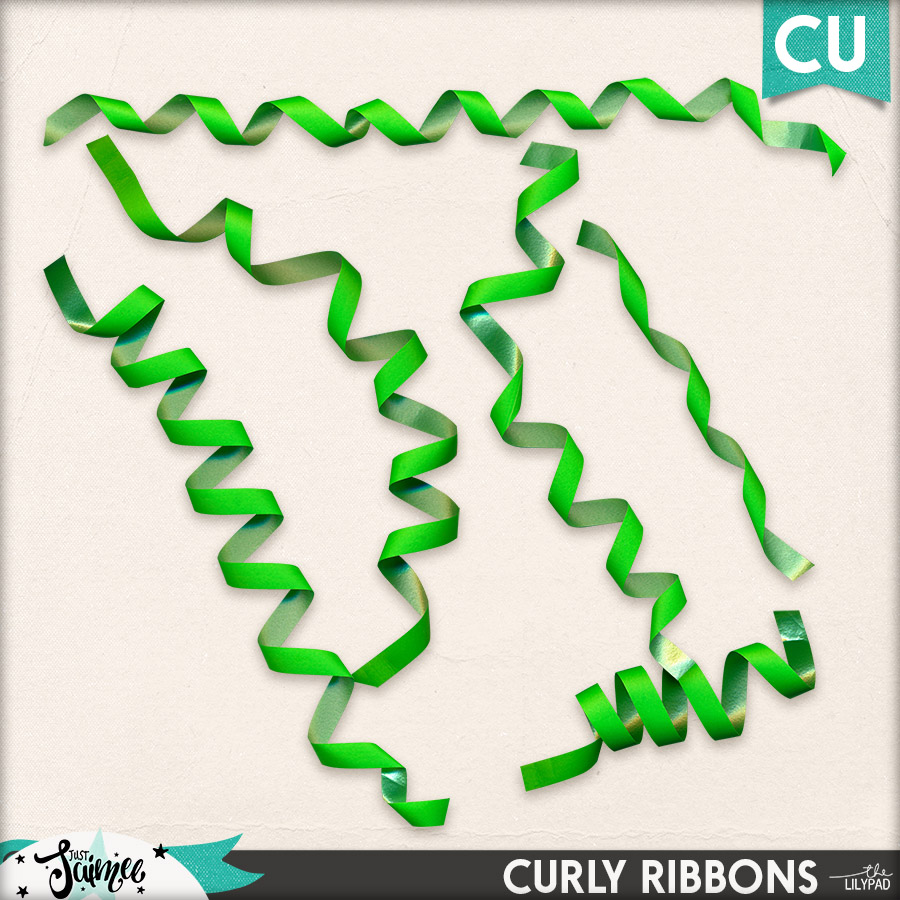 May Commercial Use Subscription Curly Ribbons