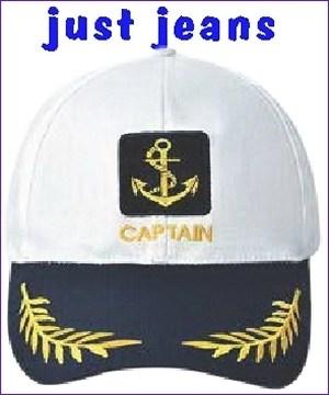 τζοκευ καπελο ασπρο  navy  λευκο captain  με κεντημα αγκυρα μπλε γεισο και κλαρα ναυτικο καπετανιου για σκαφος army  βαμβακερο cotton jokey 14