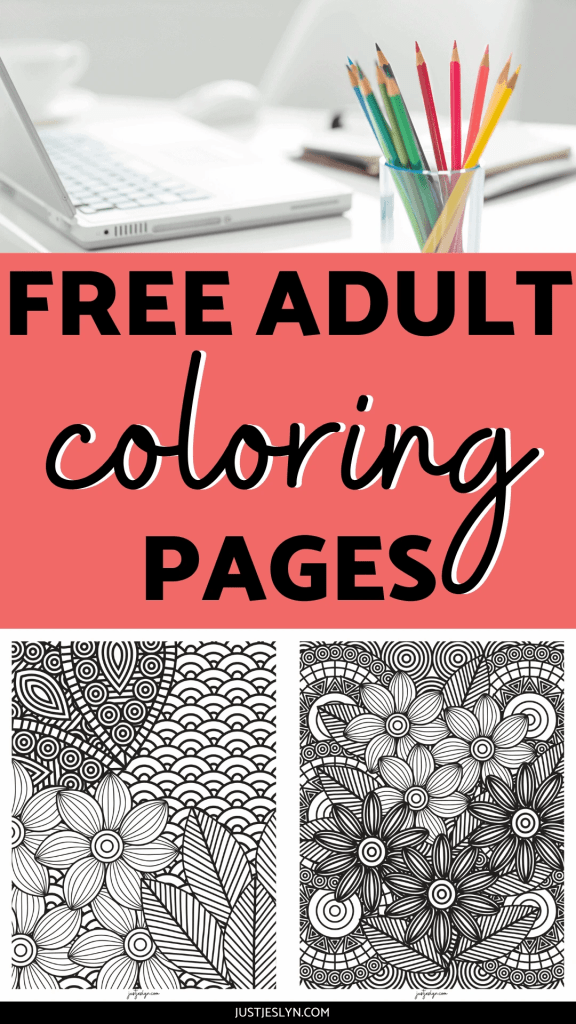 FREE Floral Adult Coloring Pages For Stress Relief | justjeslyn.com