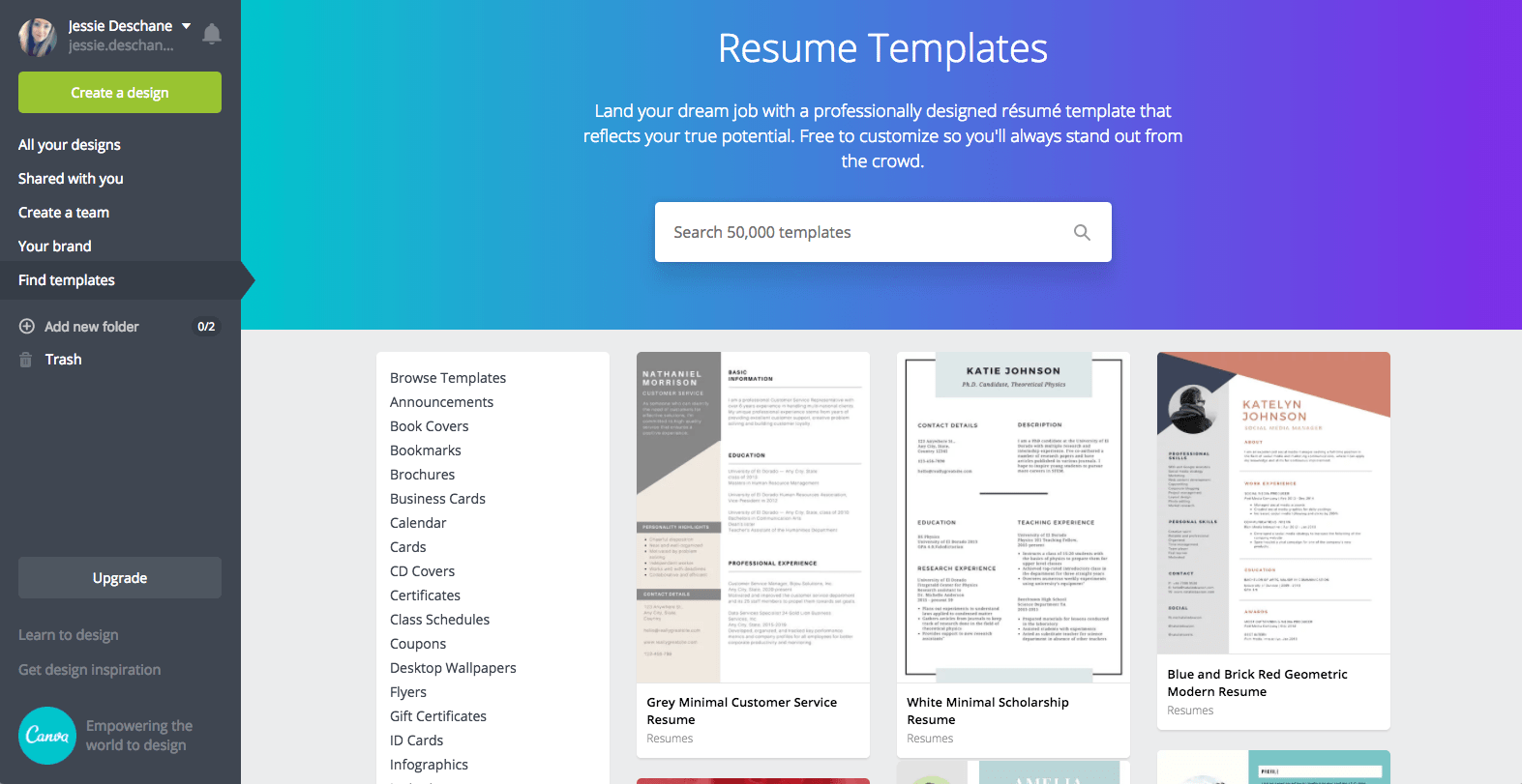 How To Make A Resume Website How To Make A Resume In Canva Just Jessie