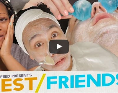 video thumbnail three people getting a facial