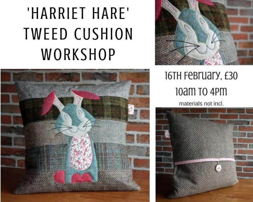Applique hare cushion archives just jude designs quilting