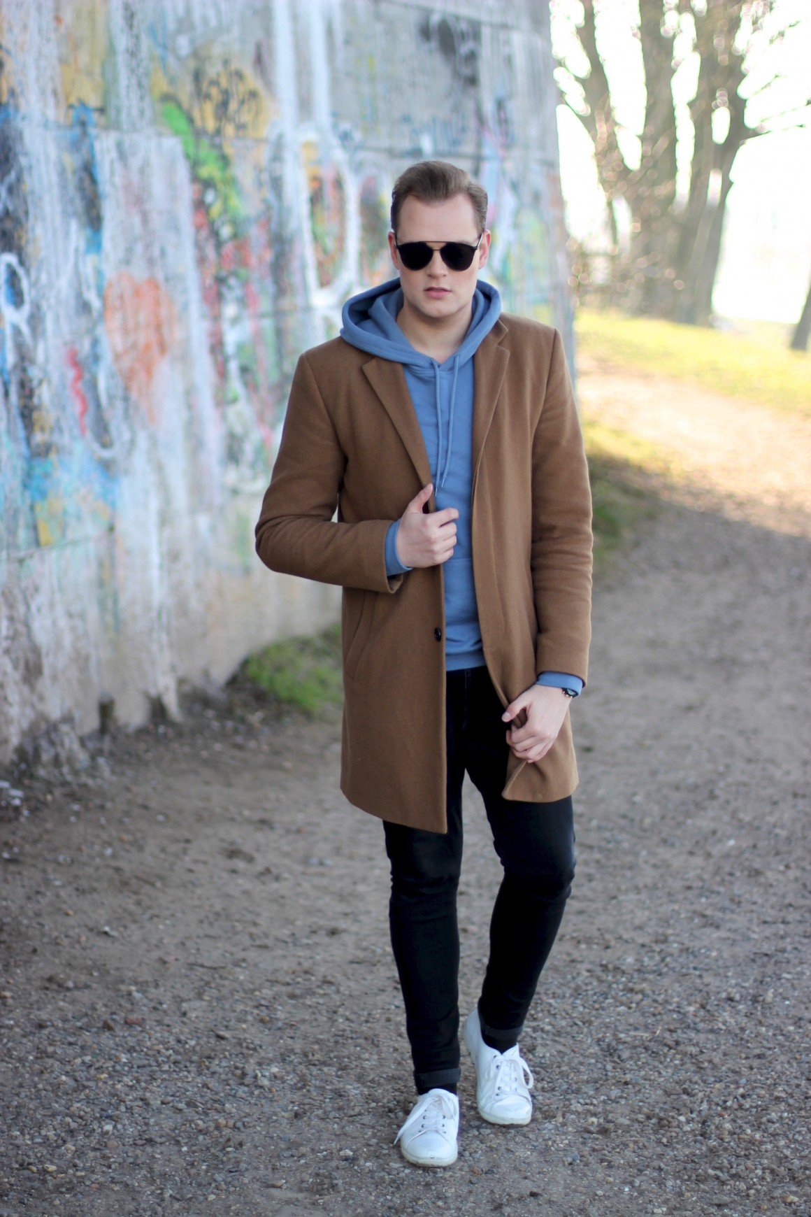 Camel Coat With Hoodie Outfit  Justkvn Menswear And