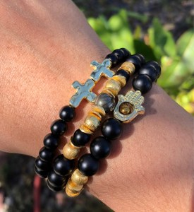 Matte black onyx Bless Up Stack