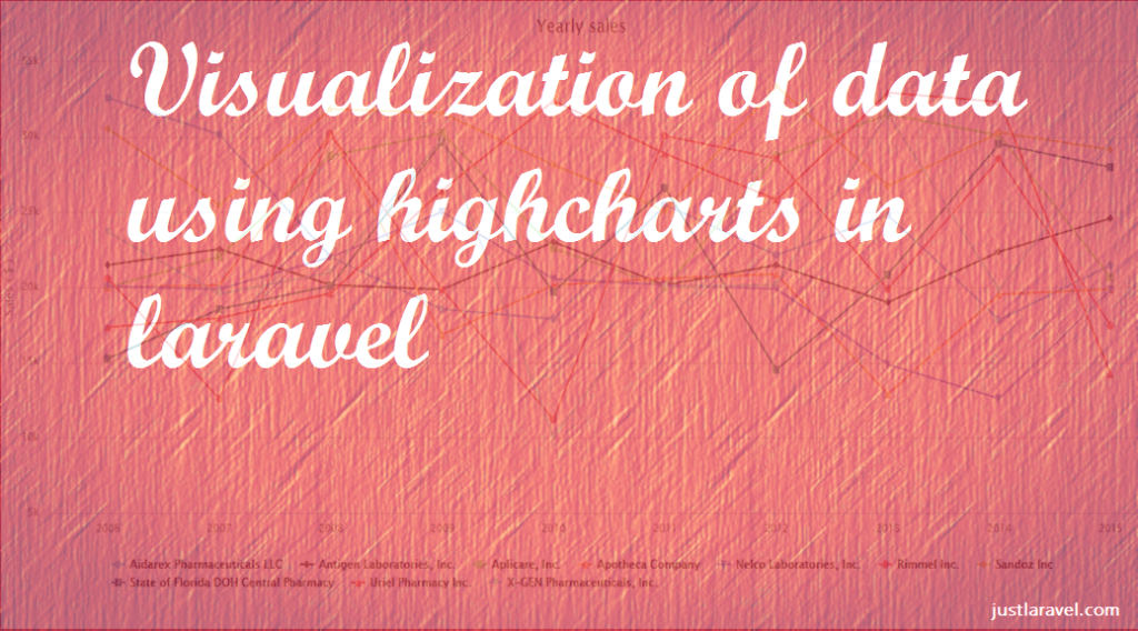 Visualization of data using highcharts in laravel