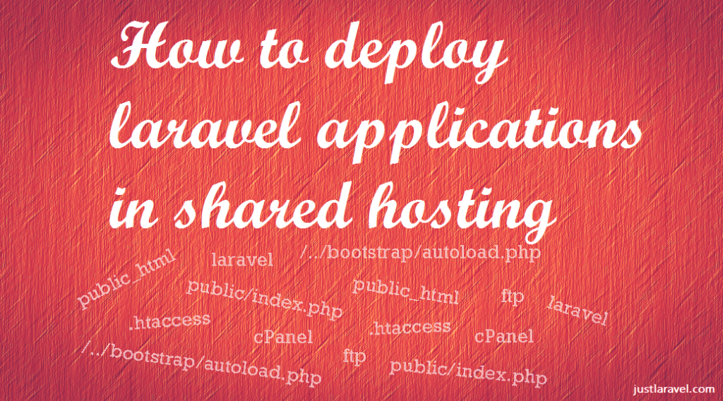 How to deploy laravel project in shared hosting