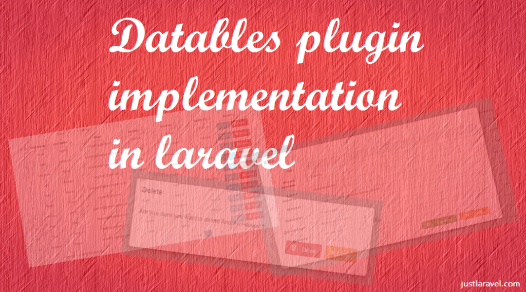 How to implement datatables in Laravel
