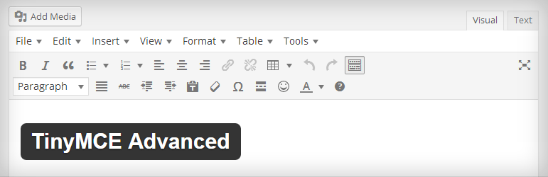 TinyMCE Advanced Most Popular Free WordPress Plugins