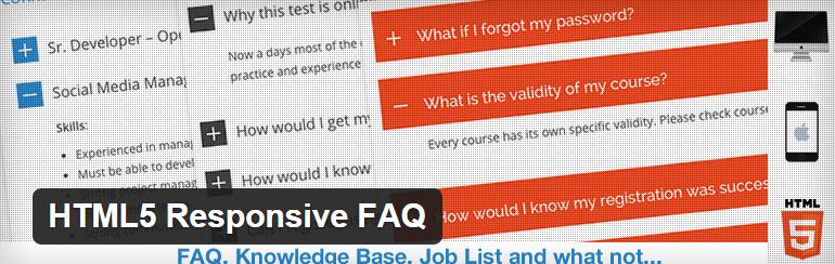 HTML5-Responsive-WordPress FAQ Plugin