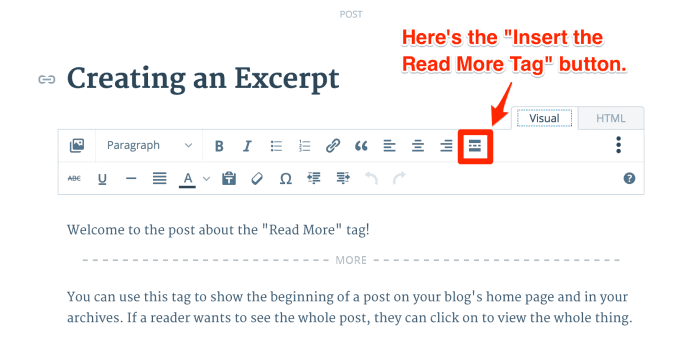 how to use  read more  tag WordPress post excerpts