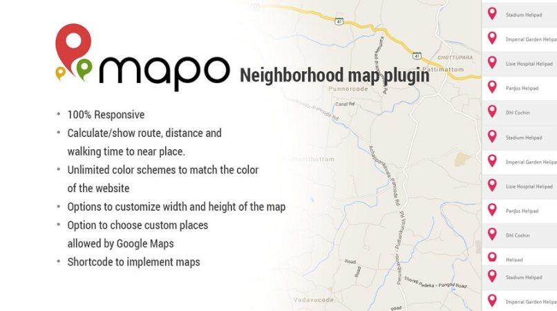 Mapo Neighborhood Map Plugin
