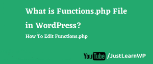 What is Functions.php File in WordPress