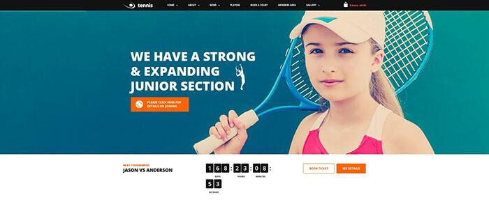 Tennis, Sport Club & Events Theme