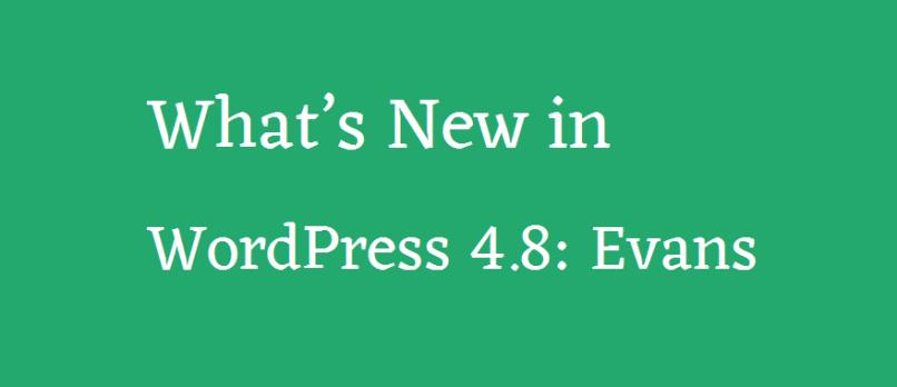 What's New in WordPress 4.8