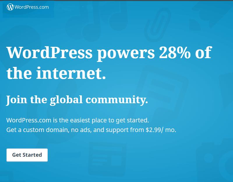 Create a free blog at wordpress.com
