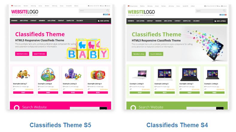 Classifieds Free Theme WordPress Demo