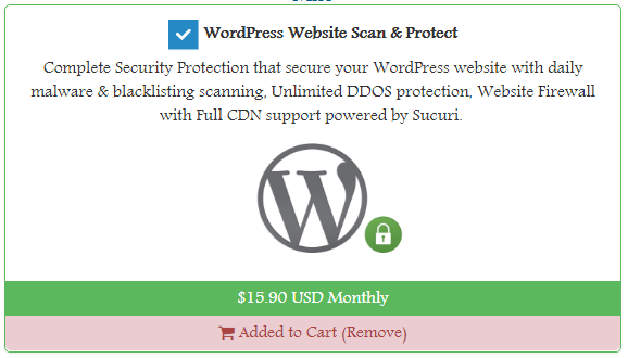 WPWebHost Review - security addon