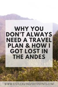 How I Got Lost in the Andes