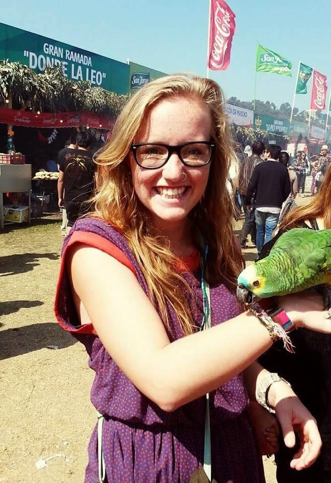 Holding a Parrot | Fiestas Patrias in Chile - Exploring the Fondas