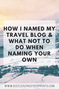 How I Named My Blog and What Not to Do when Naming Your Own