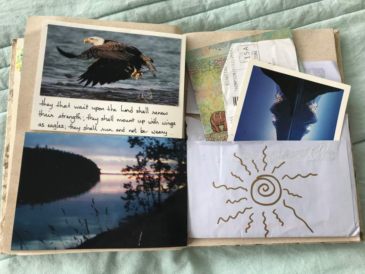 Travel Journal Envelope and Postcards