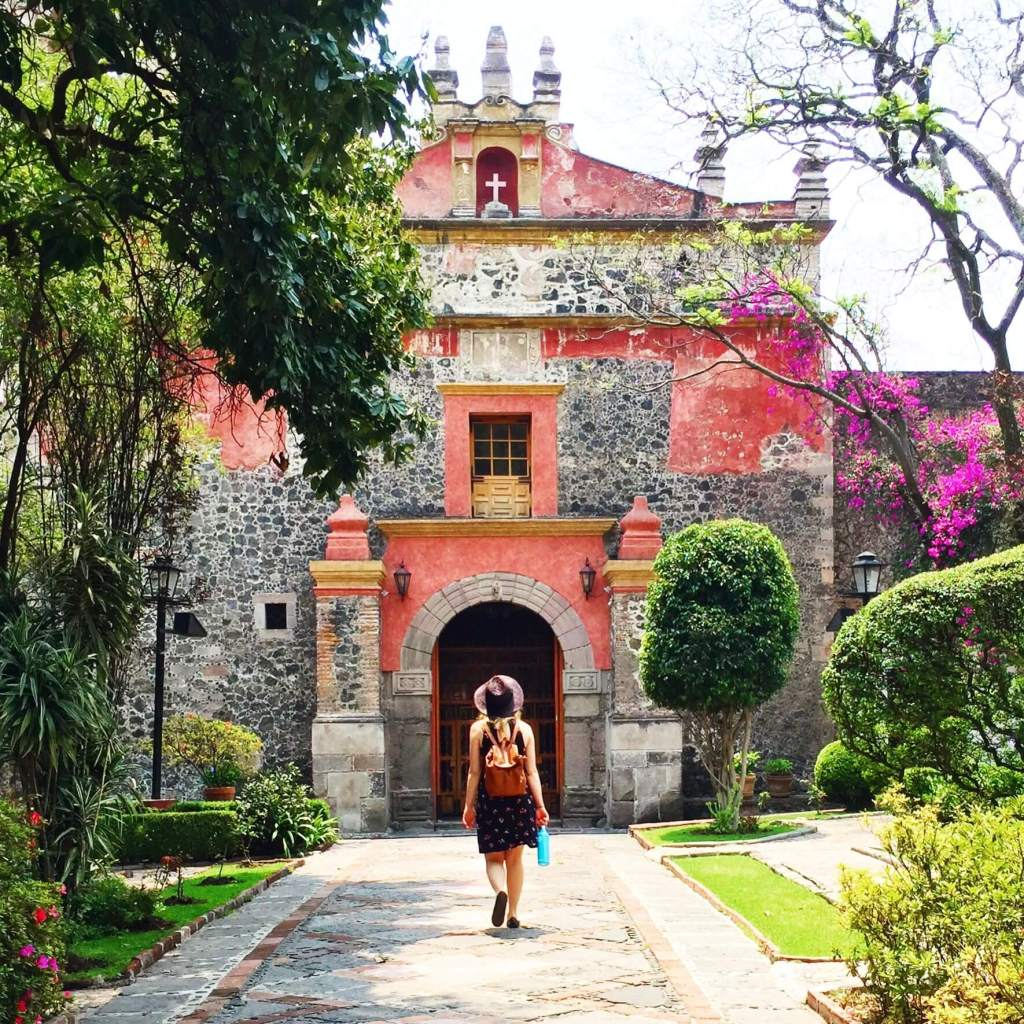 Mexico City San Angel Pink Church | Basic Spanish Phrases