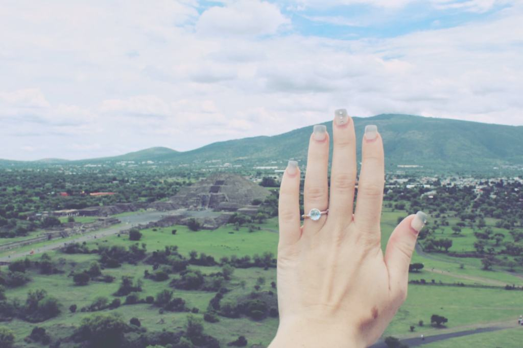 Our Engagement Story | Engagement Ring at Teotihuacan