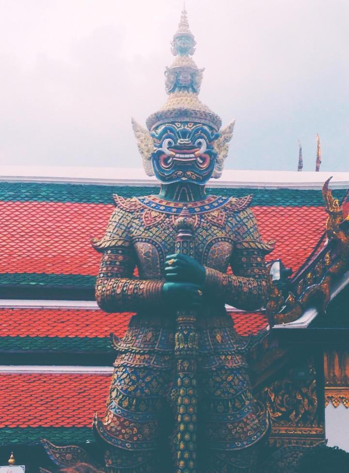 Red Statue Bangkok King's Palace