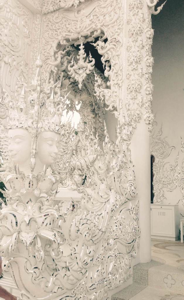 White Decorated Walls at the White Temple Thailand | Go to Thailand