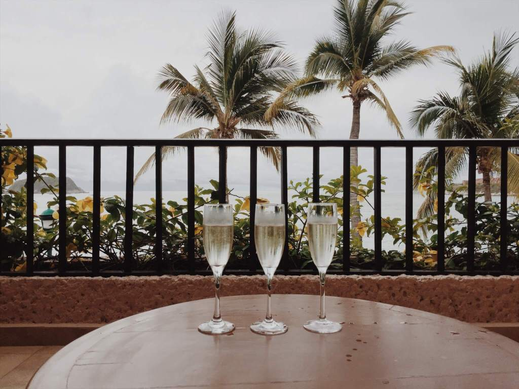 Planning a Destination Wedding | Champagne and Palm trees