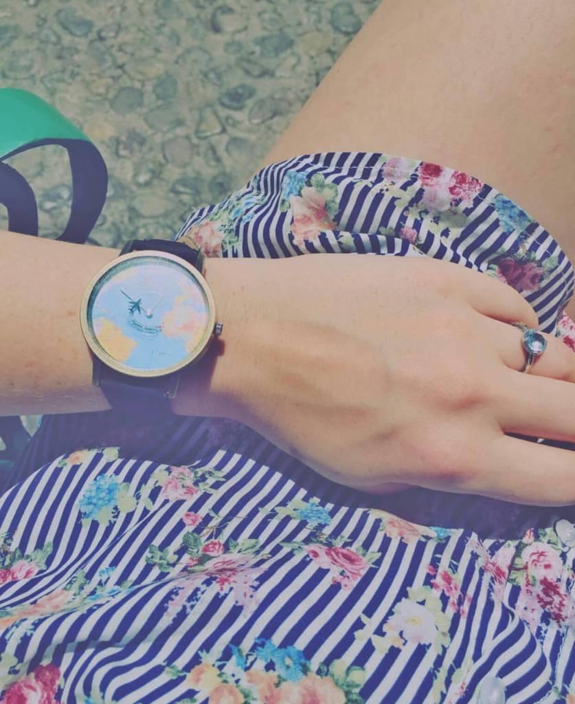 World Map Wristwatch
