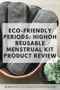 How to Have an Eco Friendly Period: HighOh Reusable Pads Review
