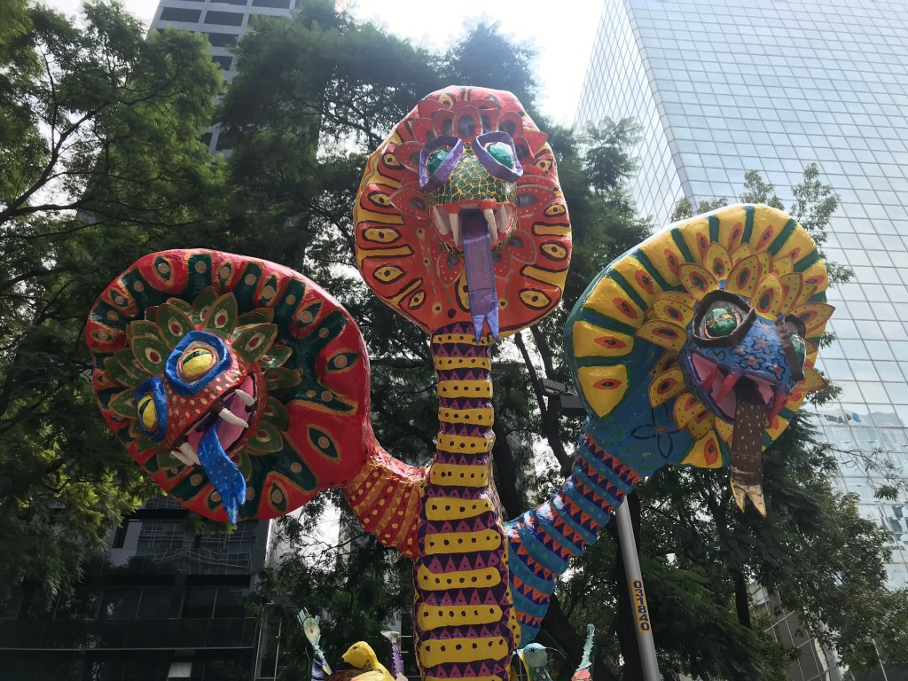 Alebrije with three heads | Mexico City Day of the Dead