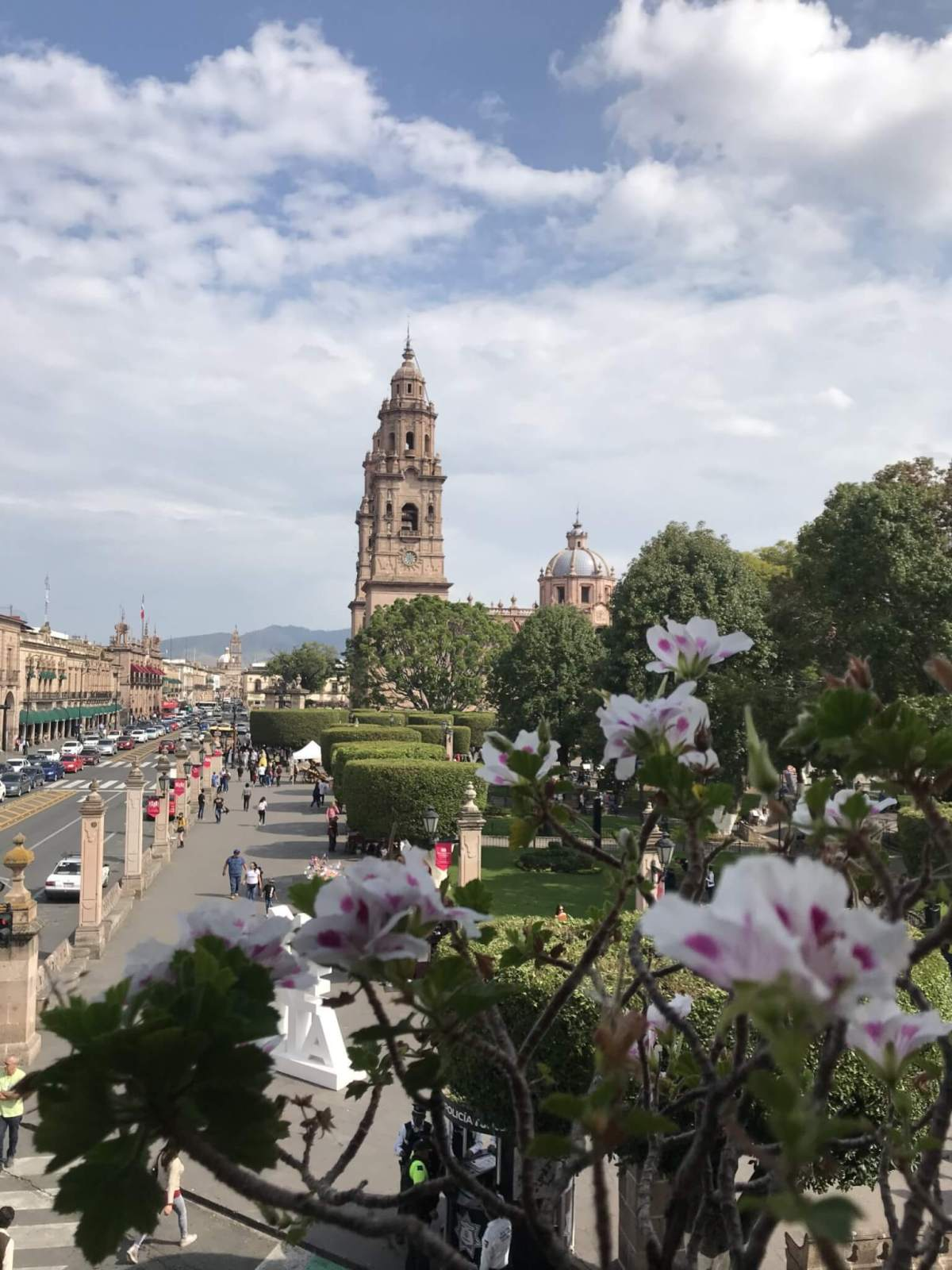 Visit Michoacán: View from our Hotel in Morelia