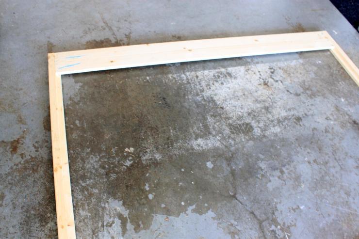 DIY king size wood headboard