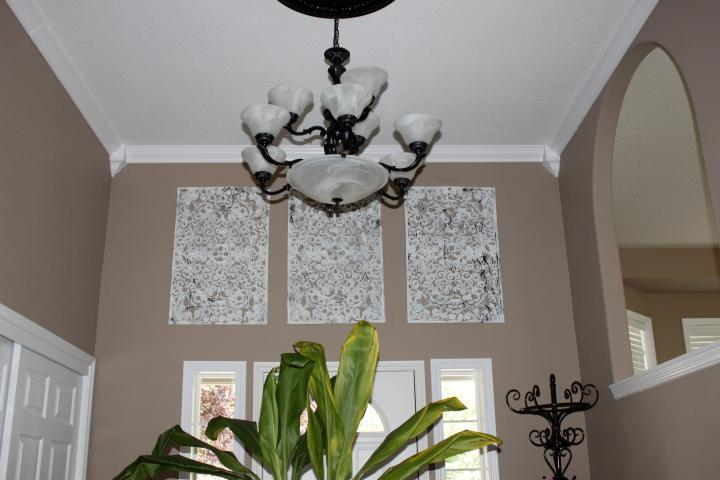 faux wrought iron wall decor
