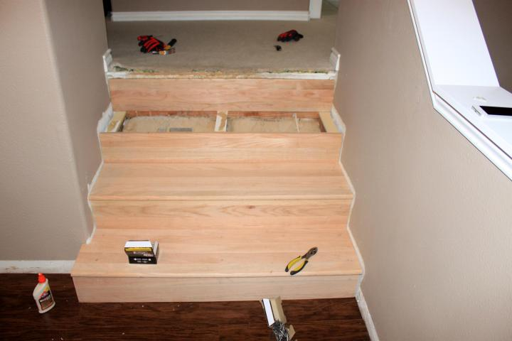 hardwood stair conversion