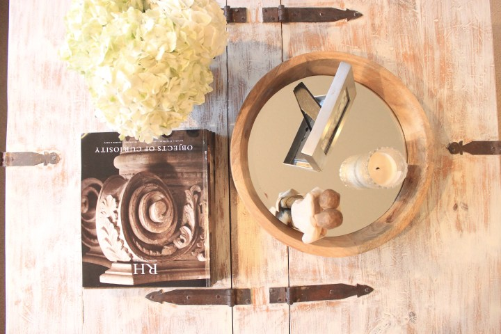 antique coffee table upcycle