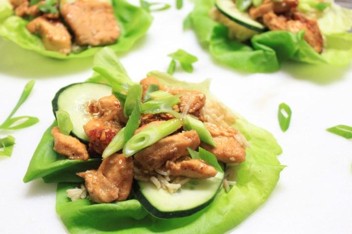 korean chicken lettuce wraps