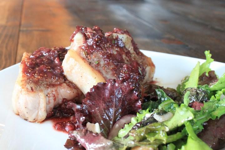 Lamb chops w/ fresh fig pan sauce