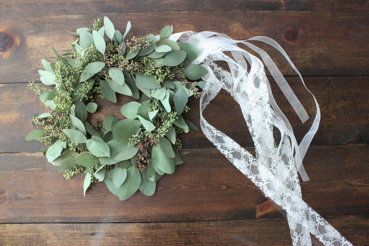 DIY Greenery Crown