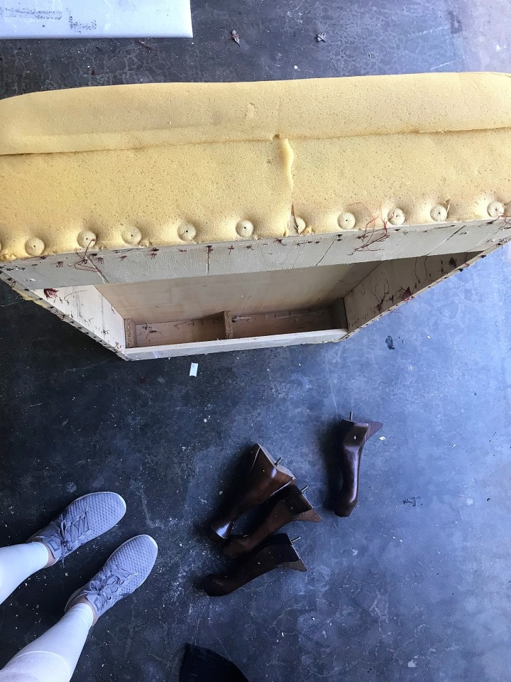reupholstering an ottoman