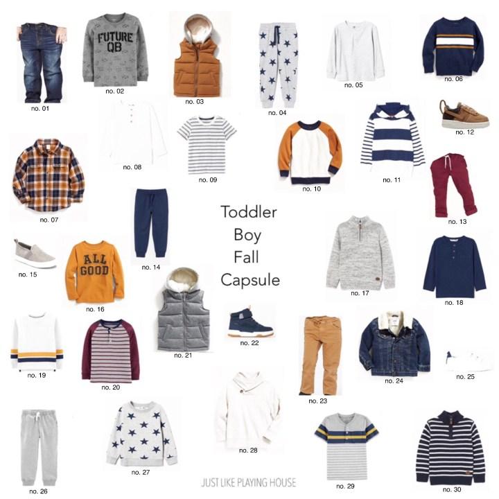 Toddler Boy Fall Capsule Wardrobe 2019