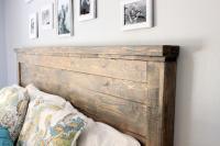 Distressed Wood Headboard (Standard King Size)   Just Like ...