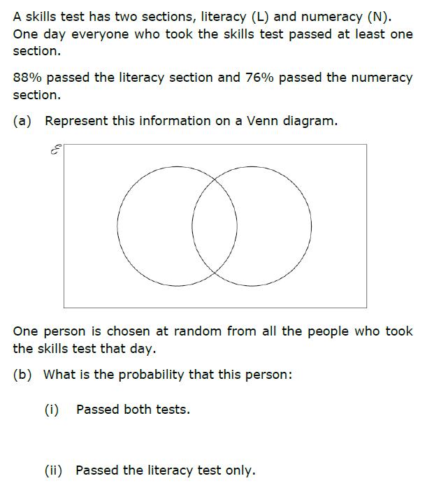 GCSE 91 New content Venn Diagrams – Venn Diagram Probability Worksheet