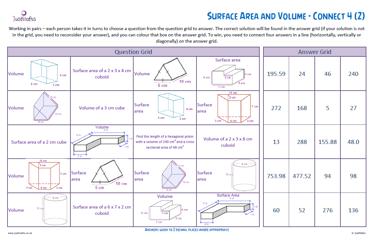 hight resolution of Surface Area and Volume Revision -