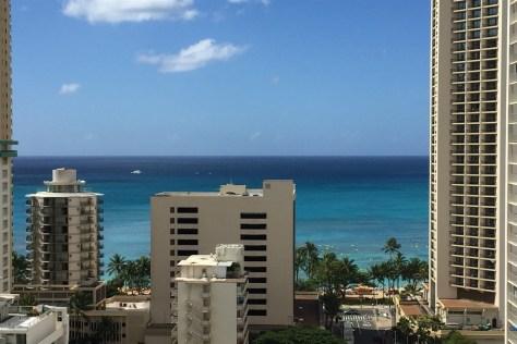 View over Waikiki Beach