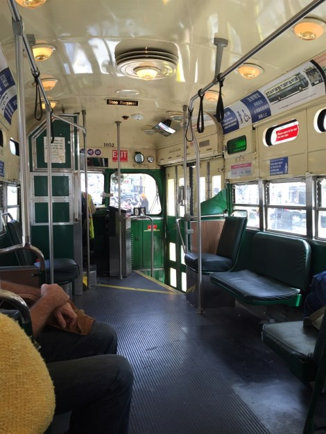 Inside the restored heritage streetcar